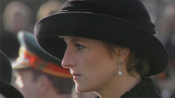 Princess Diana attends Remembrance Day service in Enniskillen (1993)