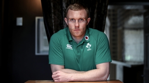 Keith Earls at Carton House today