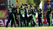 Ireland celebrating their opening wicket