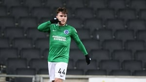 Aaron Connolly celebrating his first goal, and it's likely Brighton's phones will be ringing