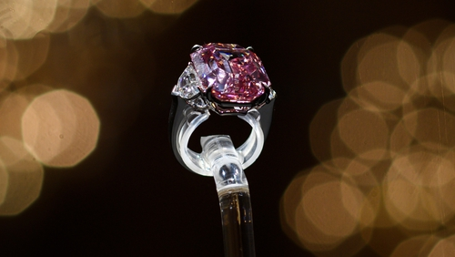 The Pink Legacy A 18 96 Carat Fancy Vivid Pink Diamond Was