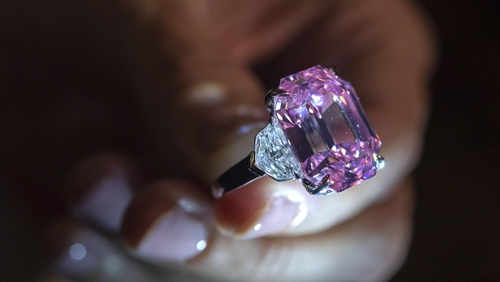 The Pink Legacy diamond sold for 50.3million Swiss Francs.