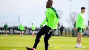 Obafemi at recent Ireland training
