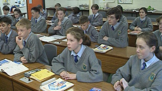 Students observe silence for Peace in Northern Ireland