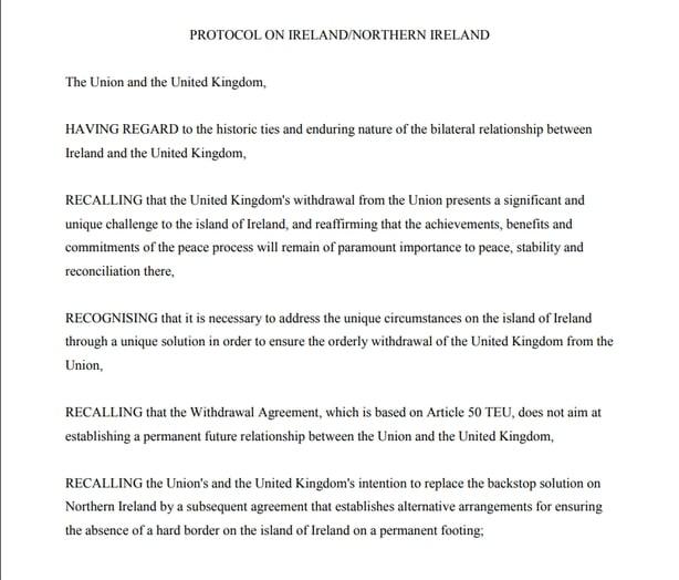 Draft Brexit Text Outlines Future Eu Uk Relationship