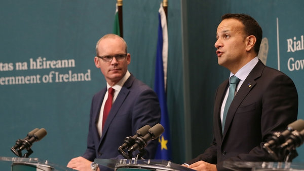 Fine Gael meets as a no-confidence motion looms over Simon Coveney, pictured left with Tánaiste Leo Varadkar