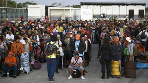 Migrants are travelling in a large caravan to the US