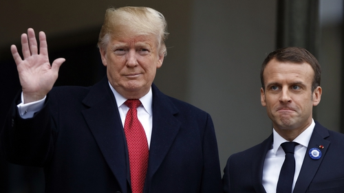 Emmanuel Macron apparently drew Donald Trump's ire by rejecting nationalism during a WWI ceremony