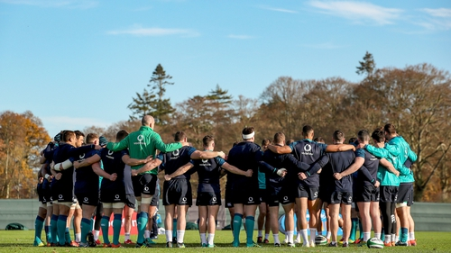 The Ireland squad preparing for the All Blacks at the team base in Carton House