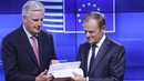 EU Council President Donald Tusk was speaking this morning alongside chief Brexit negotiator Michel Barnier