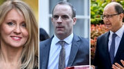 Esther McVey, Dominic Raab and Shailesh Vara (L-R) all tendered their resignations this morning