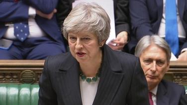 Príomh-Aire na Breataine, Theresa May, i bParlaimint Westminster inniu