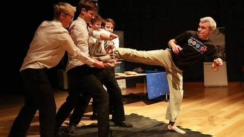 Showing some leg: Robert Howard demonstrates a very effective Taekwon-Do strike