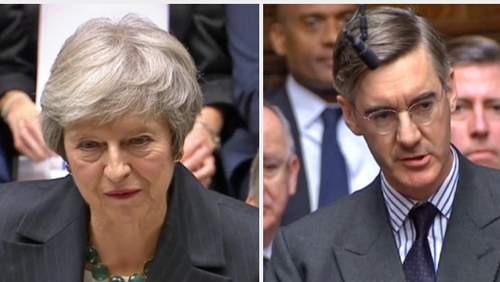 Theresa May and Jacob Rees-Mogg have clashed over Brexit