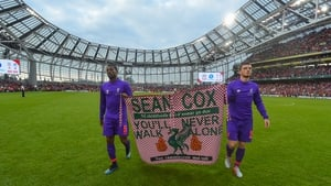 Sean Cox will be in attendance as a charity match at the Aviva Stadium