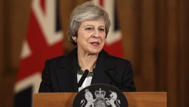 Príomh-Aire na Breataine, Theresa May i Sráid Downing tráthnóna