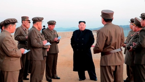 The only picture released by state media showed Kim Jong-un standing on a beach surrounded by officials in military uniforms, but no weapons were visible