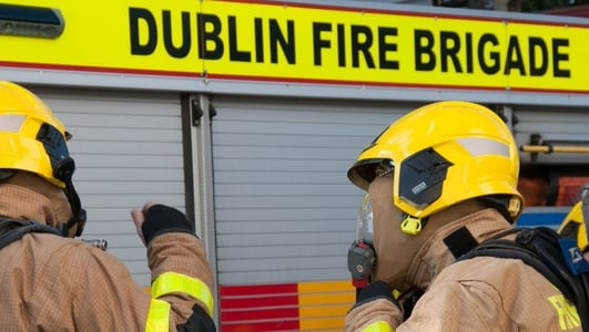 Major Fire At Scoil Chaitriona In Coolock In Dublin