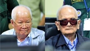 Khieu Samphan and Nuon Chea have denied the charges