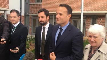An Taoiseach Leo Varadkar sa Charnán i mBaile Átha Cliath tráthnóna