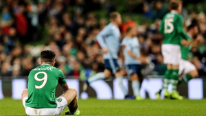A dejected Sean Maguire suffered another injury setback against Northern Ireland