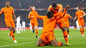 Georginio Wijnaldum celebrates his opener