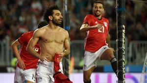 Mo Salah celebrates his winner