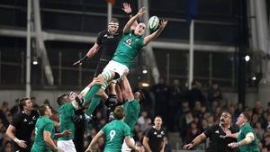 Kieran Read with Devin Toner in the line-out