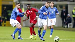 Alessandro Florenzi runs with the ball