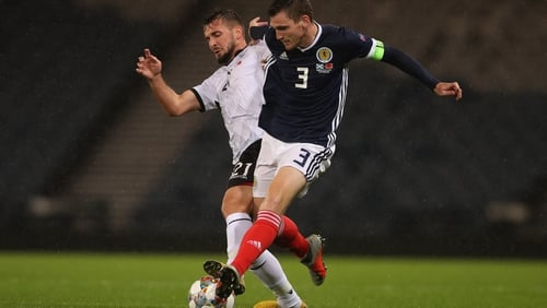 Andrew Robertson captained Scotland to a big win