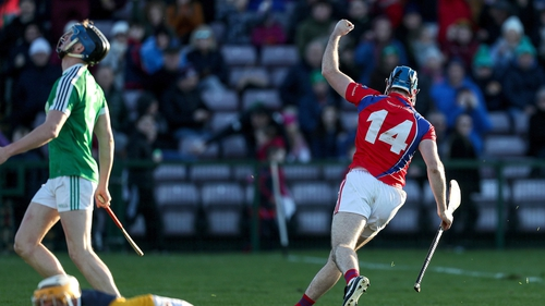 Conor Cooney wheels away after scoring a goal for St Thomas.
