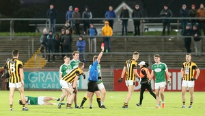 Crossmaglen's Rian O'Neill is given his marching orders during the Ulster semi-final defeat to Gaoth Dobhair