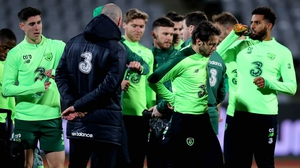Republic of Ireland players have a training session at Ceres Park, Aarhus