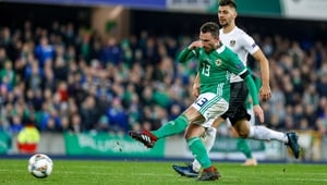 Corry Evans scored his first international goal in eight years against Austria