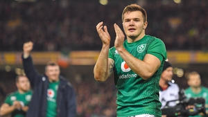 Jacob Stockdale bagged his 12th try in just 14 caps