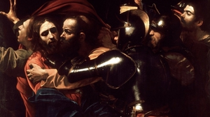 Caravaggio's masterpiece The Taking of Christ, the inspiration for Stephen James Smith's poem.