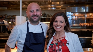 Catherine with chef Justin Wise in Sydney