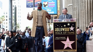 Snoop Dogg and Leron Gubler attend a ceremony honoring Snoop Dogg With Star On The Hollywood Walk Of Fame on November 19, 2018 in Hollywood, California