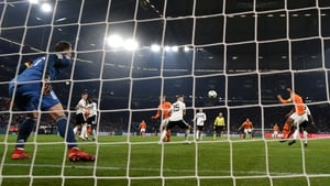 Virgil Van Dijk scores with a last minute equaliser against Germany