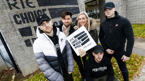 RTÉ Choice Music Prize: Chasing Abbey, with Eoghan McDermott and Tracy Clifford (centre)