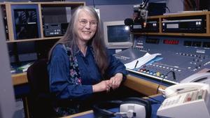 Sandy Harsch at work in Radio 1. Photo credit: John Cooney
