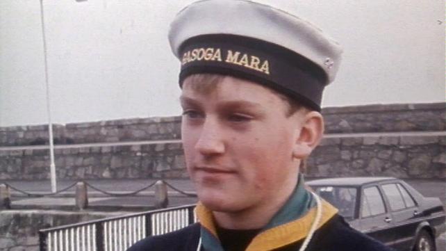 Lochlann Ó Mearáin on board the LÉ Eithne (1988)
