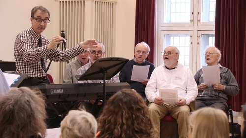 Members of the Irish Doctors Choir in rehearsal