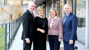 Mark Gallagher CEO of  Performance Insights; Julie Sinnamon, CEO of Enterprise Ireland; Susan Spence, Co-founder and President of SoftCo and Brendan Jennings CEO of Deloitte