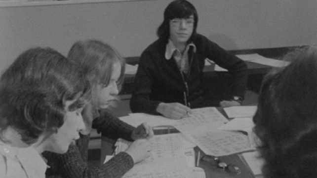 Leaving Certificate students compete in the National Management Game for schools (1973)