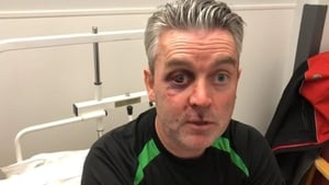 Referee Daniel Sweeney was taken to hospital after an incident in a match between Horseleap United and Mullingar Town