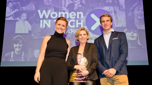 L-R Pixie McKenna, Medb Corcoran (Disruptor Award Winner) & Will Brightling