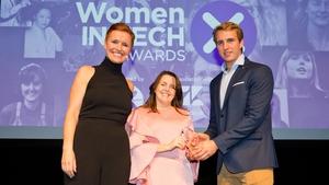 L-R Pixie McKenna, Michelle Cullen (Mentorship Award Winner) & Will Brightling