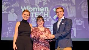 L-R Pixie McKenna, Jaine Blayney (Data Scientist Award Winner) & Will Brightling