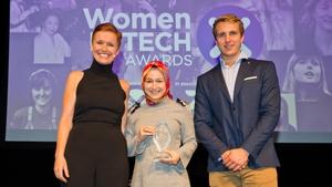 L-R Pixie McKenna, Furkan Karayel (Trailblazer Award Winner) & Will Brightling